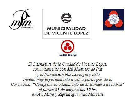 Invitación: Bandera de la Paz en Villa Martelli