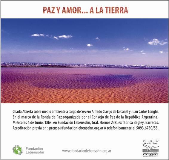 INVITACION: PAZ Y AMOR A LA TIERRA