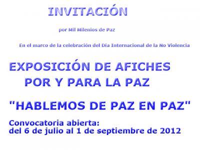 CONVOCATORIA |  AFICHES POR Y PARA LA PAZ