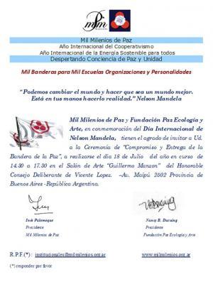 Ceremonia Compromiso de Entrega de Bandera de la Paz
