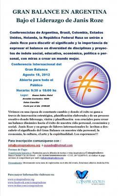 Janis Roze en Argentina