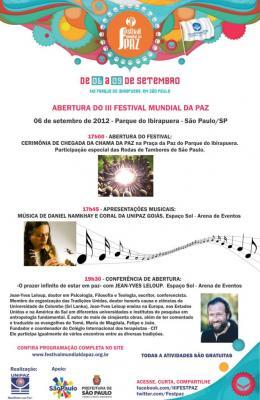3er Festival Mundial de Paz, Brasil