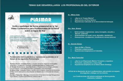 TERAPIA MARINA:1er video conferencia Plasmar