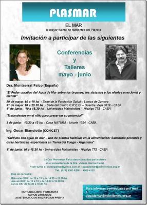 Conferencias y talleres | Agua de Mar