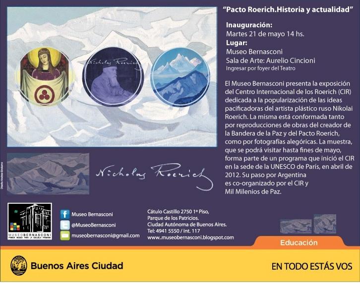 Museo Bernasconi |Exposición Pacto Roerich