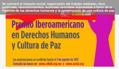 Premio Iberoamericano en Derechos Humanos y Cultura de Paz