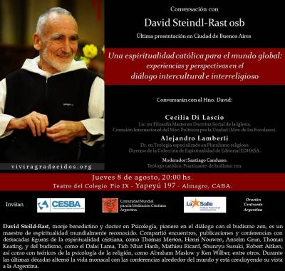 Brother Steinld Rast: una espiritualidad católica para el mundo global