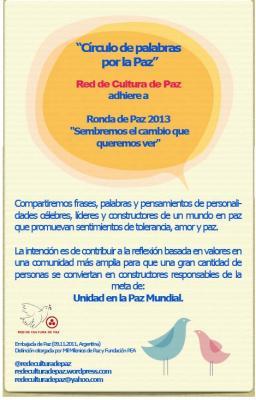 Mensajes de Paz en Ronda de Paz 2013