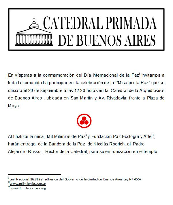 Misa por la Paz | Catedral Metropolitana. CABA. B.A. Argentina