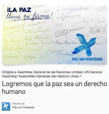 Petición | LA PAZ, UN DERECHO HUMANO